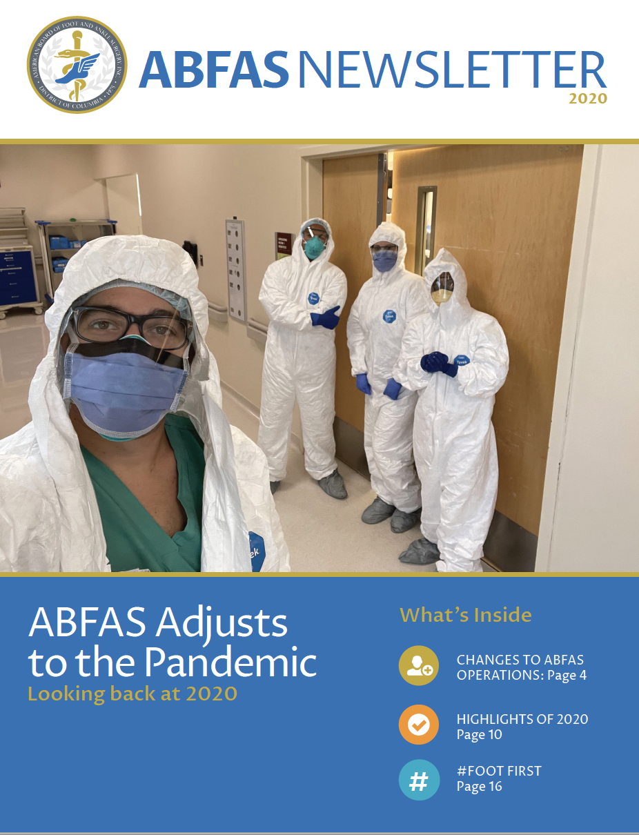 Cover of the ABFAS 2020 Newsletter