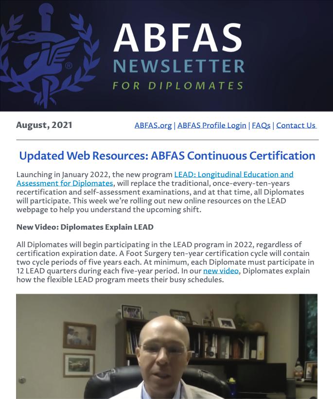 August 2021 Diplomate Newsletter thumbnail